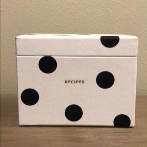 Kate Spade Deco Dot Recipe Box